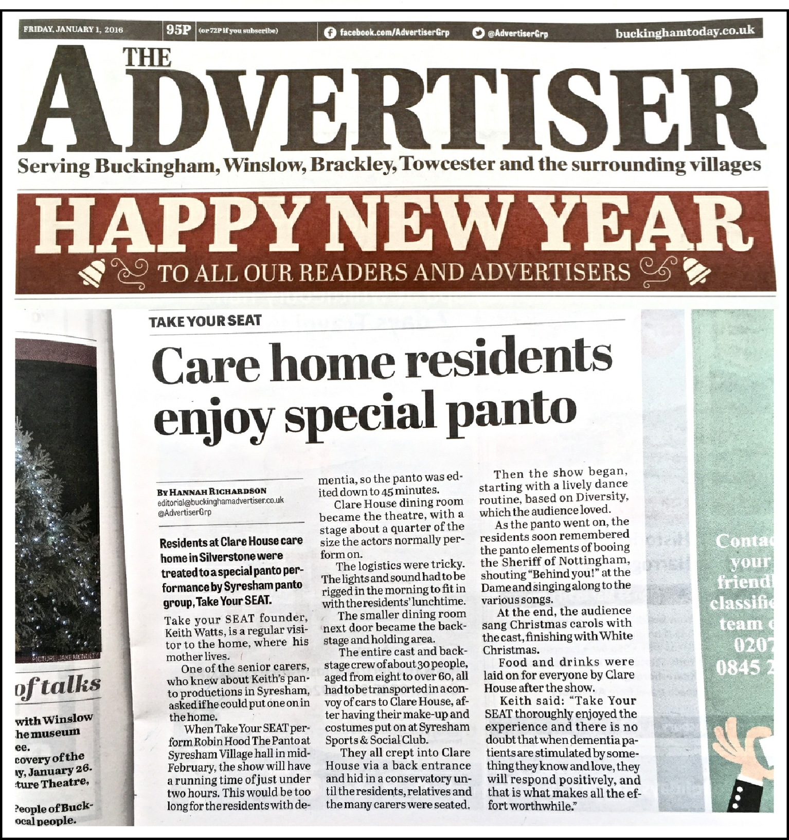 Clare House Advertiser